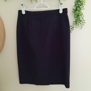 Tory Burch Navy Lined Pencil Skirt Size 4